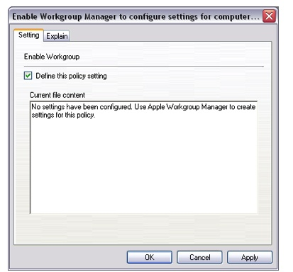 Managing Mac policies using Workgroup Manager and Active Directory