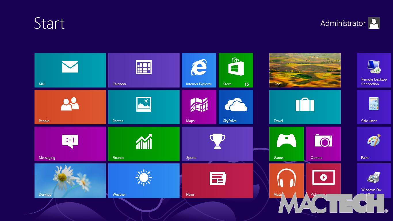 17 retina support windows 8 start screen mactech